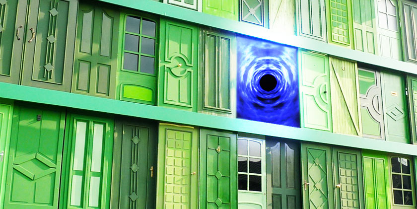 Astral projection to the house with the green door